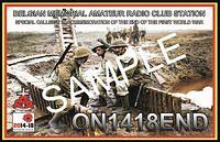 QSL-ON4HRT-ON1418END-ON6DSL