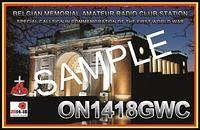 QSL-ON4HRT-ON1418GWC-ON6DSL