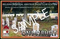 QSL-ON4HRT-ON1418HRT-ON6DSL